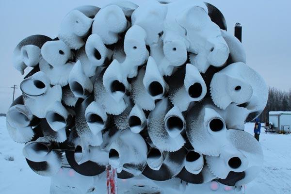 Frozen screw piles
